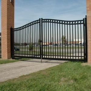 TampaCommercial Double Gate Arched