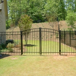 Tampa Residential Aluminum Double Gate - Arched