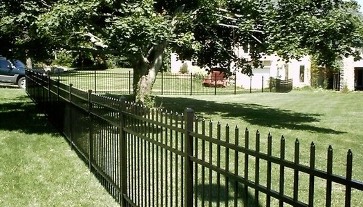 aluminum fence 3 rail spear top Tampa